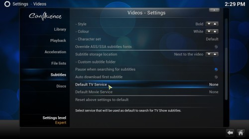how to add kodi subtitles