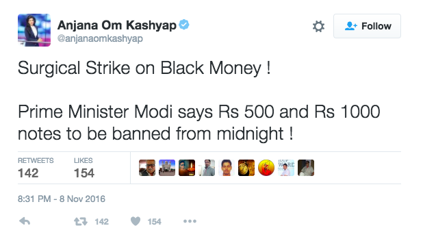 modi bans rs 1000 notes twitter reactions