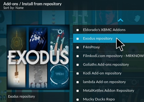 how to add exodus to kodi 16.1